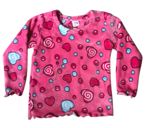 Pink Hearts Top