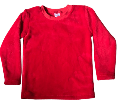 Red Fleece Top