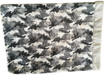 Grey Camouflage Pillowcase